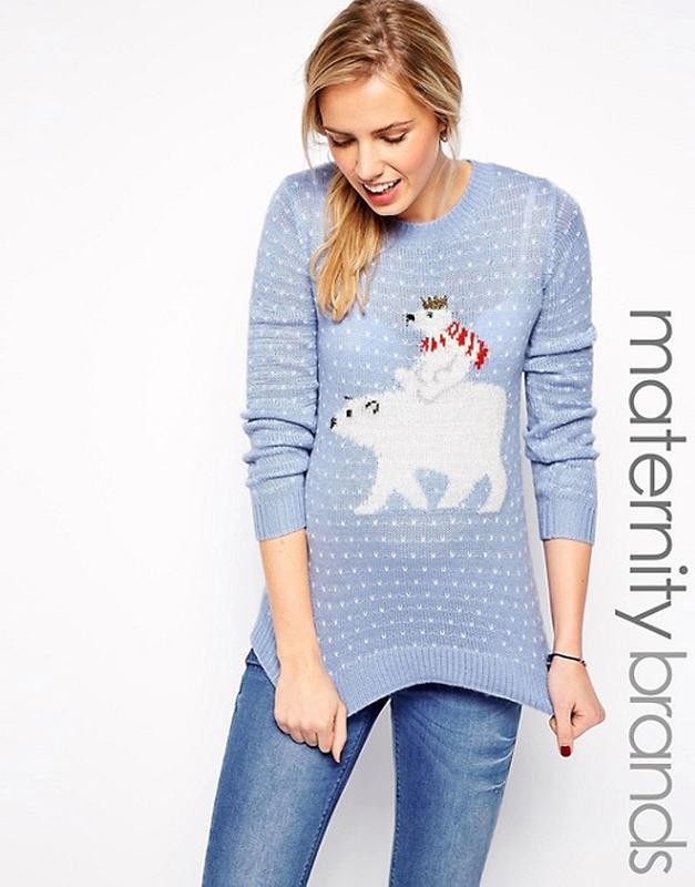 25 на все нежный джемпер для беременных тёплый вязаный свитер с