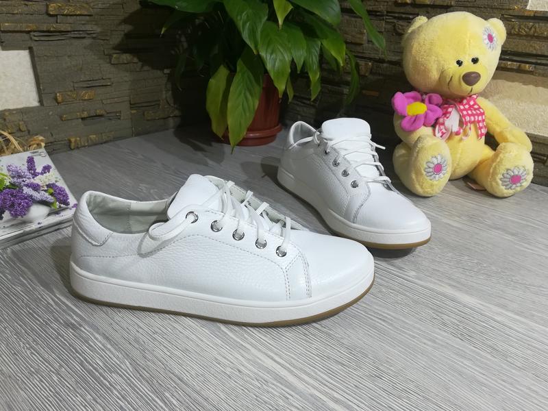 Белые кожаные кеды 36-40 натуральная кожа в наличии, цена - 850 грн ... d69781e4c8d