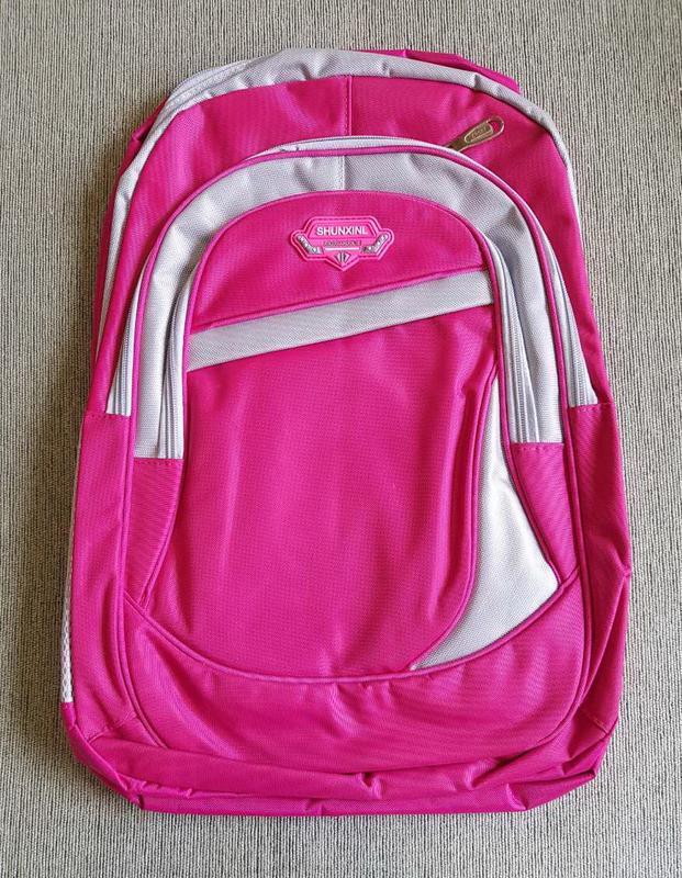 5a7f86eb40d5 Рюкзак ярко-розовый однотонный малиновый вместительный школьный унисекс  полуспортивный1 ...