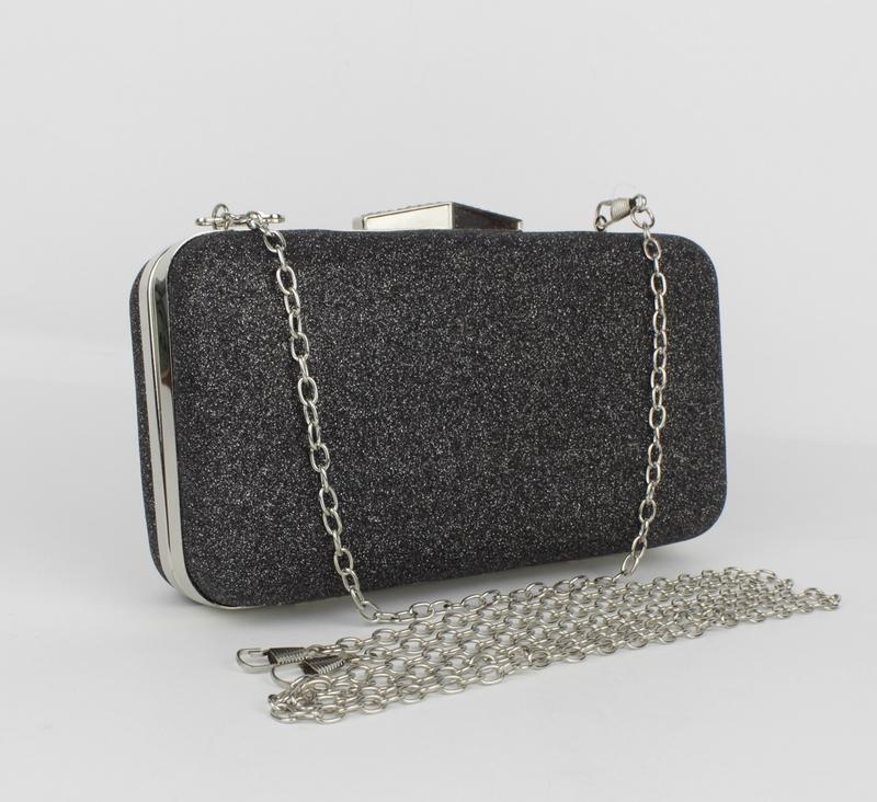 Вечерний клатч rose heart 09829 графит с блестками, сумочка на цепочке1 ... 68b67747a10