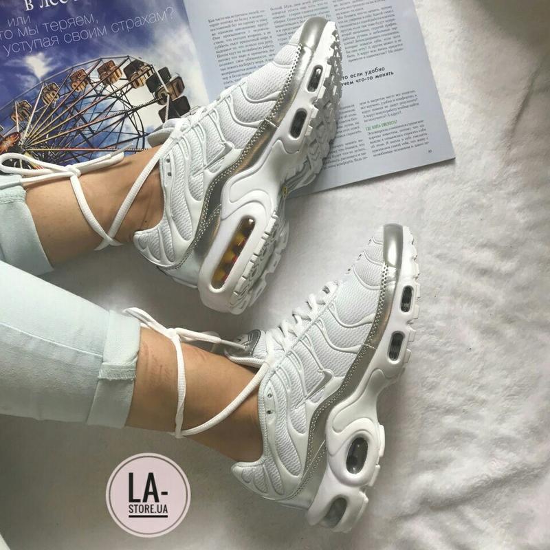 3c62a624 Белоснежные женские кроссовки nike air max plus tn triple white ✨1 фото ...