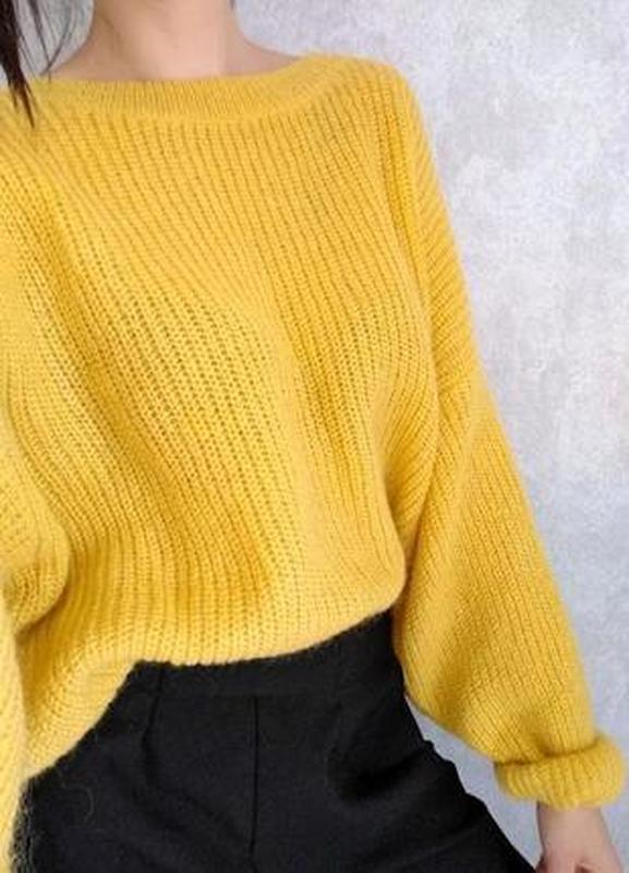 желтый вязаный свитер оверсайз цена 60 грн 15854895 купить по