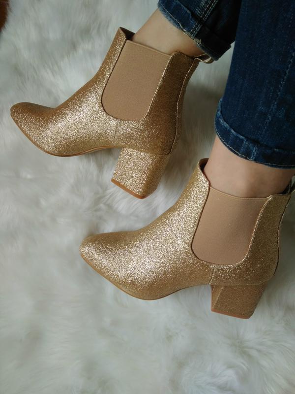 508ebe7e3 Шикарные золотистые ботинки, полусапожки от missguided, р. 37 ...