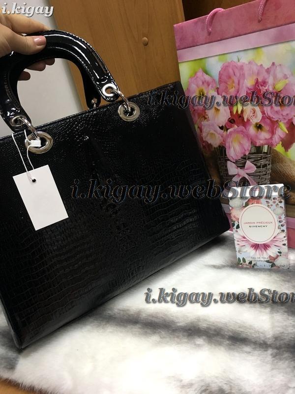 29e243a2c465 Женская сумка в стиле dior крокодил черная, цена - 330 грн ...