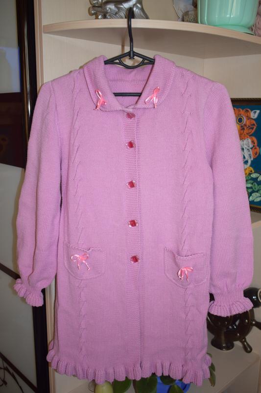 вязаное пальто для девочки цена 180 грн 15874112 купить по