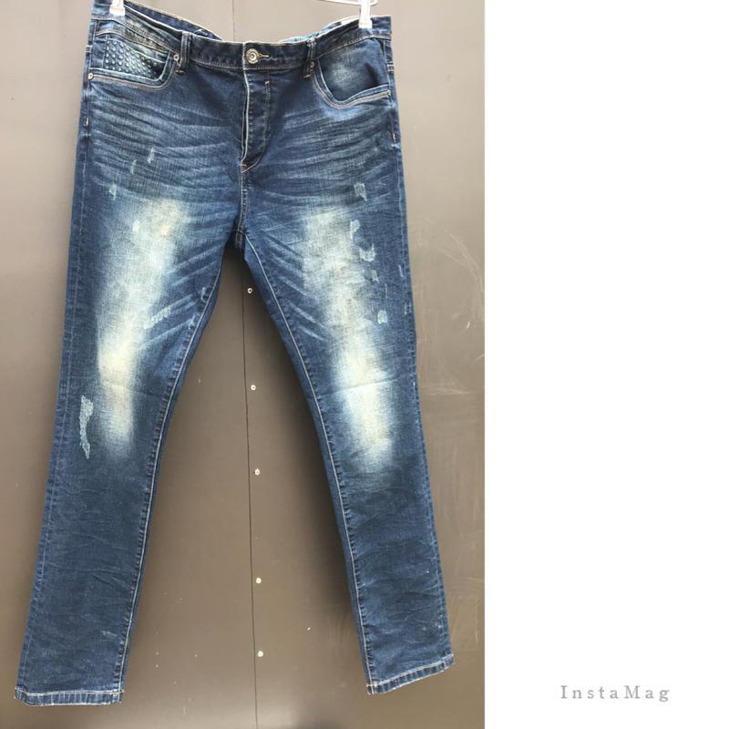 ad1114ad234 Модные мужские зауженные джинсы с потертостями.б у.рр 36 38.1 ...