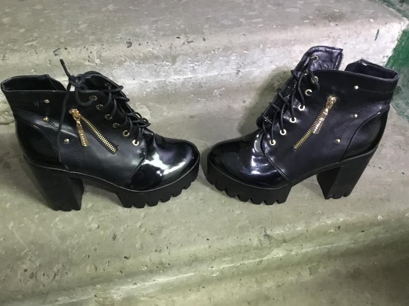 Чоботы сапожки черный латекс замкожа чорні ZARA 6ca866c10fcb6