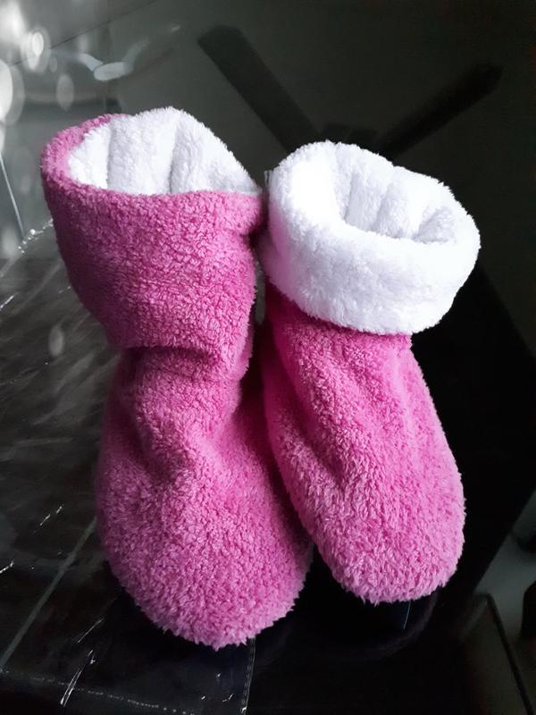 fe7c34677528f Мягкие меховые тапочки - домашние сапожки, розовые, новые!1 фото ...