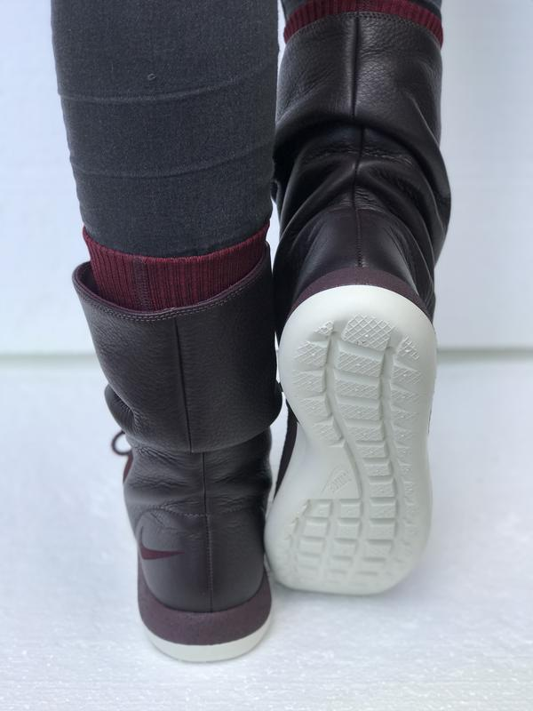 "603b37f807b554 Спортивні чоботи черевики nike wmns roshe two hi flyknite ""deep burgundy»1  фото ..."