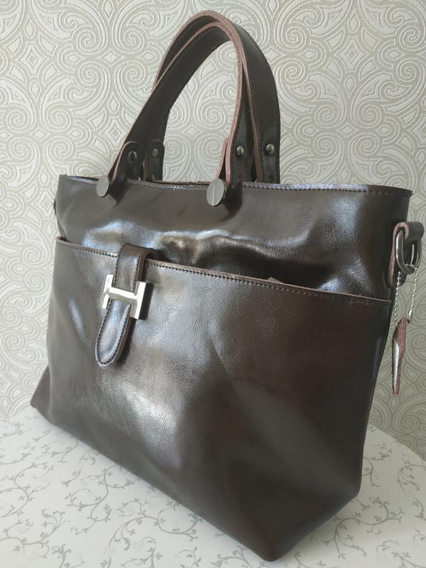 677bfa2c6ff7 Кожаная женская сумка осень 2018 зима 2019, толстая прочная кожа1 фото ...