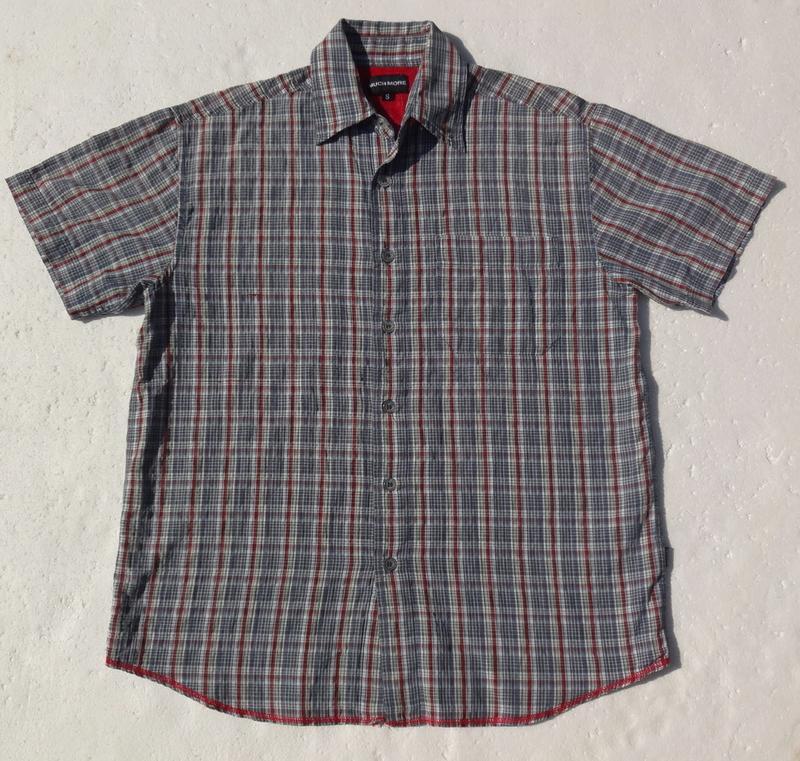 125b34b1117 Much more. молодёжная рубашка в клетку с коротким рукавом. ворот 36.  германия.