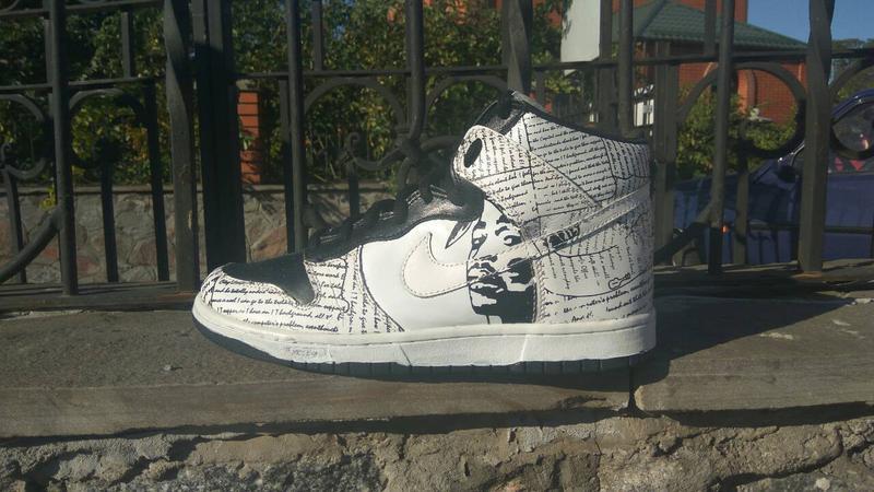 buy online ad8b7 1eee7 Кроссовки nike rapper 2pac nike dunk tupac amaru shakur high tops shoes1  фото ...