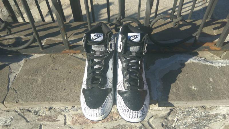 newest 0cc24 62ef0 ... Кроссовки nike rapper 2pac nike dunk tupac amaru shakur high tops  shoes3 фото ...