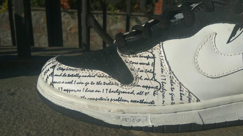 buy popular 866f3 9e4ab ... Кроссовки nike rapper 2pac nike dunk tupac amaru shakur high tops  shoes5 фото
