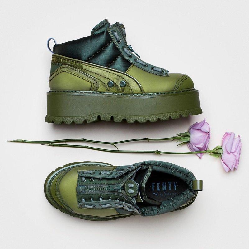 Женские ботинки в стиле fenty puma by rihanna zipped sneaker boots1 ... 57ba7554857