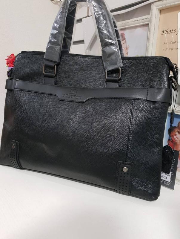 5ca5779eeb58 Сумка-портфель мужская кожаная bretton, цена - 1400 грн, #15977534 ...