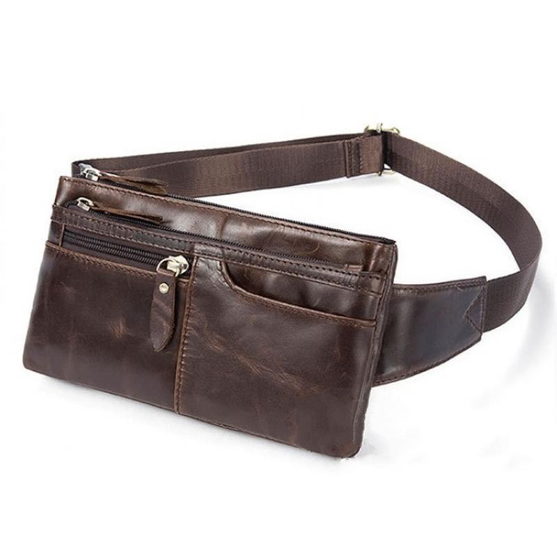 dd1cd7a7dcc3 Винтажная кожаная стильная мужская коричневая сумка на пояс ручная работа1  ...