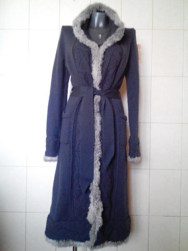 неповторимоекрутое шерстяноевязаное пальто миди Erny Van