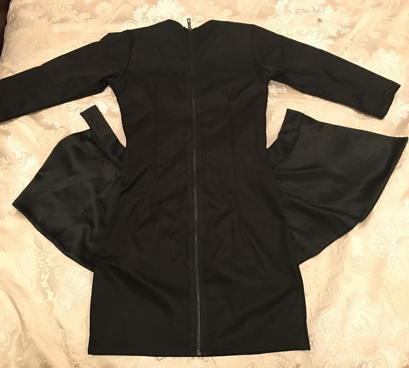 49ea3c9a9a1 ... Чёрное платье футляр со съемной баской