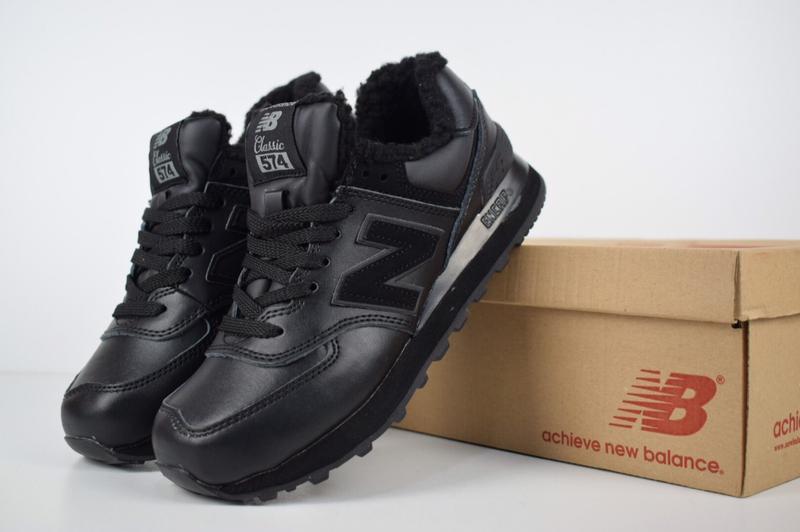 Шикарные женские зимние кроссовки new balance 574 (низкие черные с черным  мехом)1 ... 73e82c86d5996