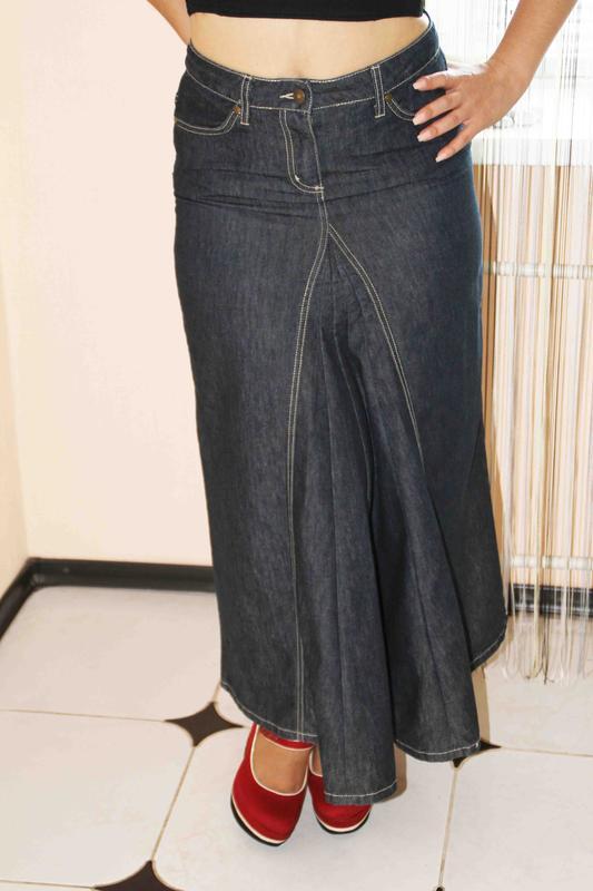 b70ff6fe8c5 Джинсовая фирменная юбка в пол George