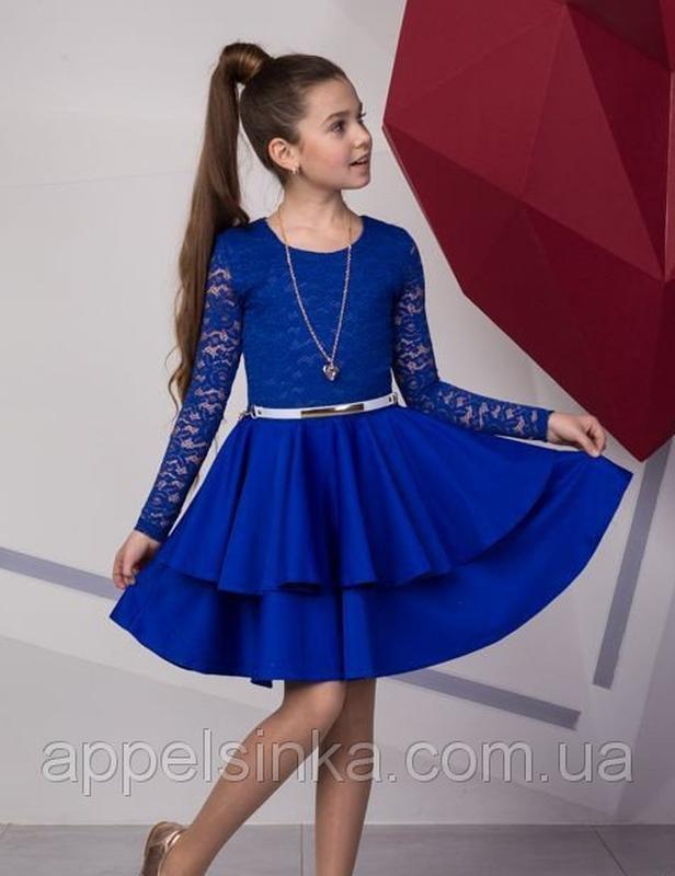 502f8b2c379 Нарядное платье для девочки подростка с гипюровым кружевом. детское платье  для девочек1 фото ...