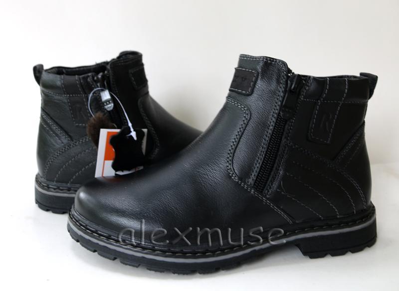 Кожаные зимние ботинки kangfu, кожа, натуральный мех р.31,32,33,34 ... 94f1d794f09