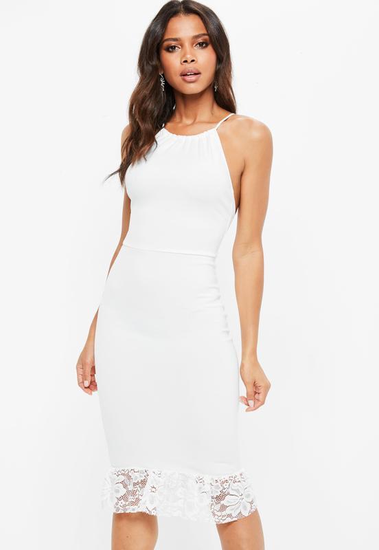 bccd78d3441 Роскошное платье миди с кружевом missguided Missguided