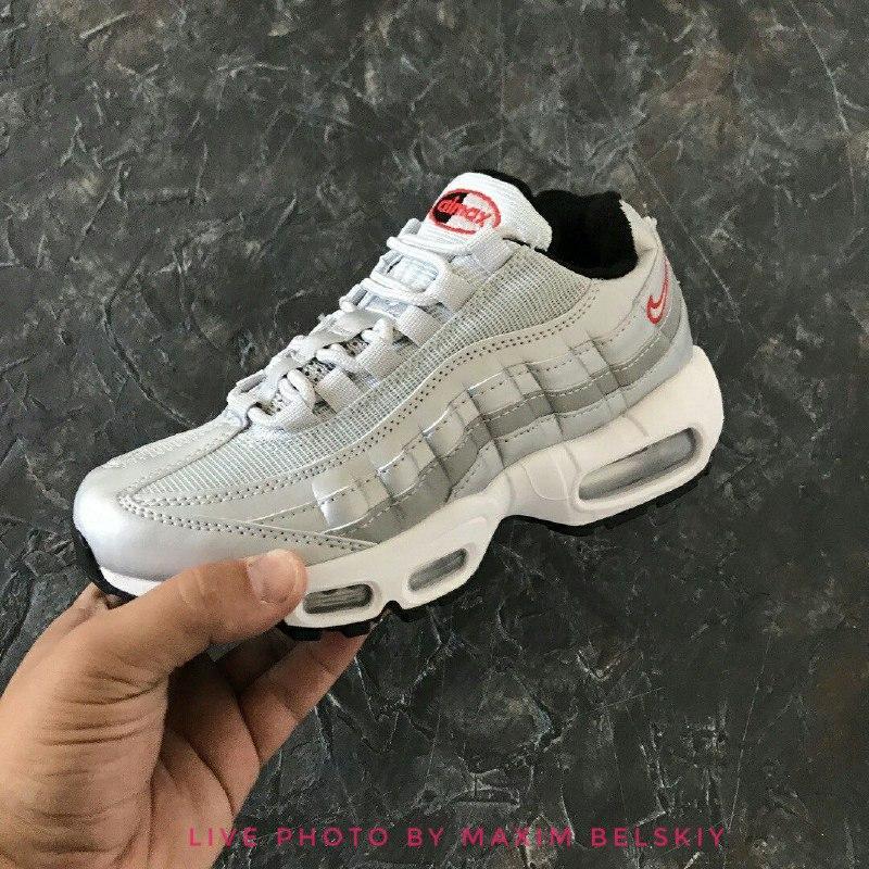 b4aadc37 36 37 38 39 40 отличные женские кроссовки nike air max 95 silver серые1  фото ...