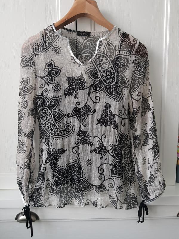 Очень красивая вечерняя шелковая блуза, турция, наш размер 48-50. Турция, цена - 380 грн, #16084051, купить по доступной цене | Украина - Шафа