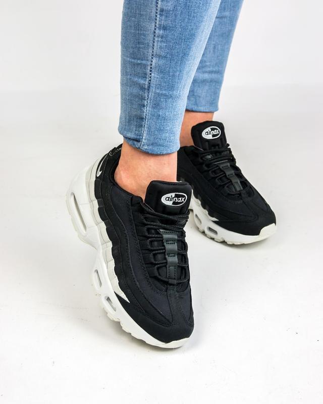 69178ffa 36 37 38 39 40 молодёжные женские кроссовки nike air max 95 black white  белые чёрные1 ...