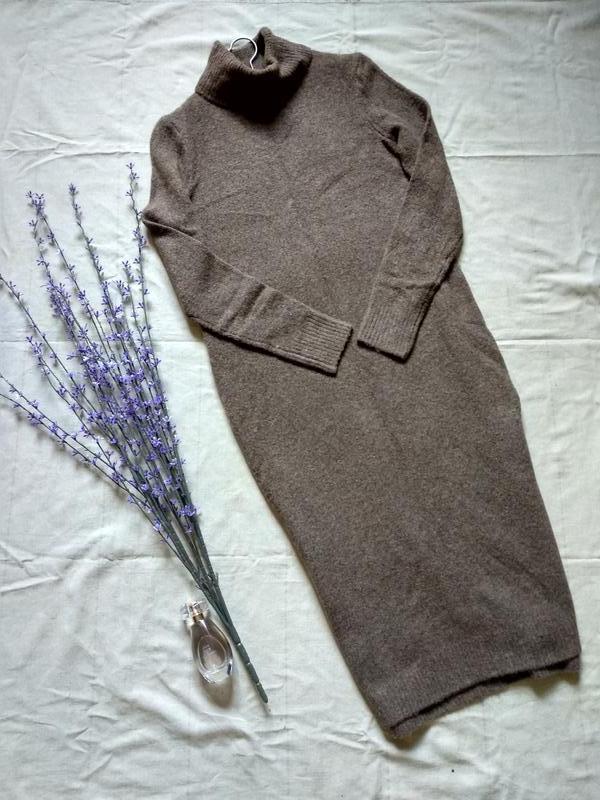 bfebdf2c78e01d1 Очень стильное теплое базовое платье гольф макси Marks & Spencer ...