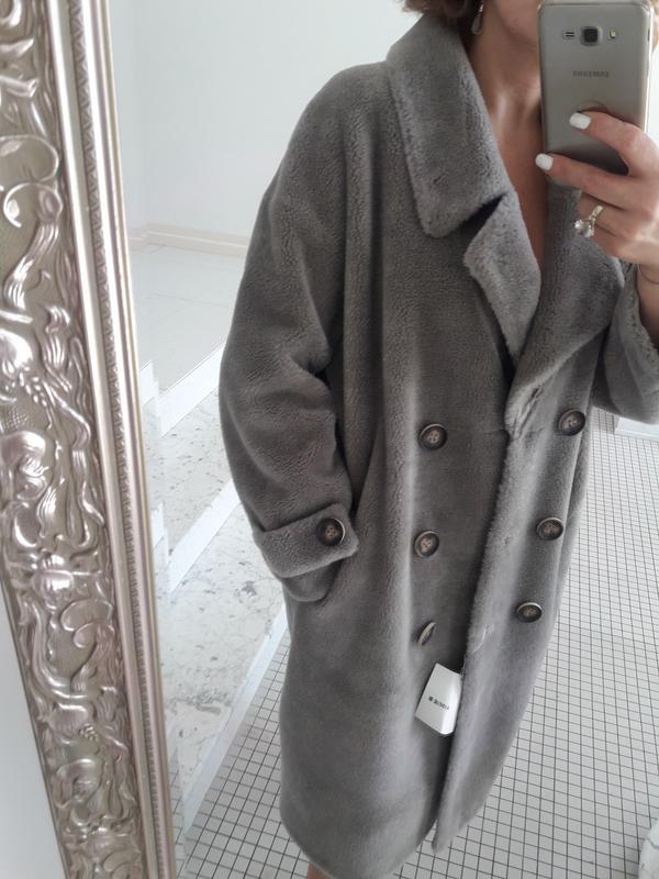 90c444eaa84 Шуба пальто натуральный мех овчины оверсайз в стиле max mara woolmark  шерсть100% кашемир1 фото ...