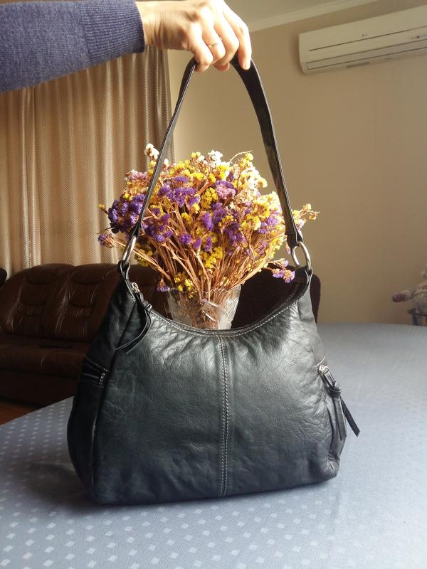 Кожаная черная сумка на плече genuine leather Leather Fashion 27eda2614ebbc