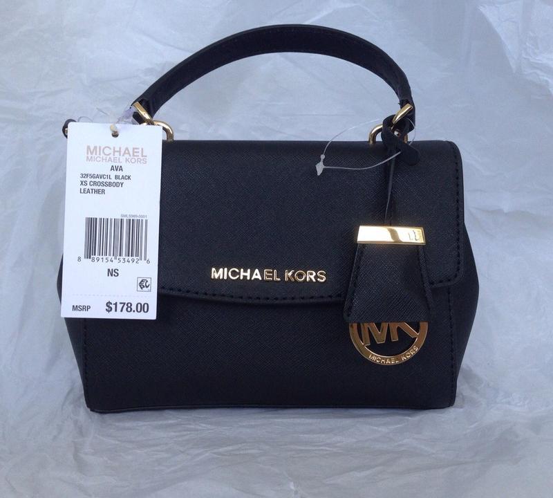 c41afe147d0d Michael kors ava xs crossbody оригинальная черная кожаная сумка1 ...