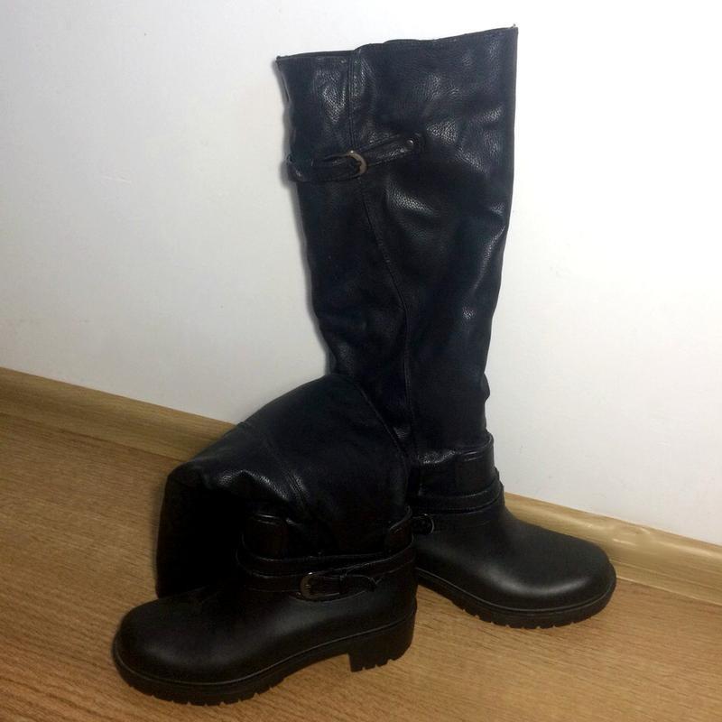 Замшеві чоботи - гумаки (утеплені) 36 р.1 ... a679494235858