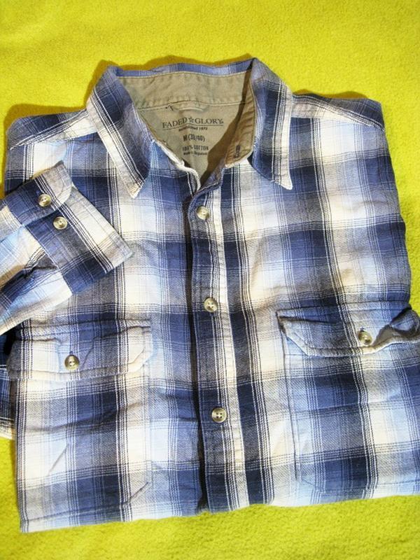 a48a72321f4 Теплая фланелевая рубашка в клетку от американского бренда faded glory1  фото ...