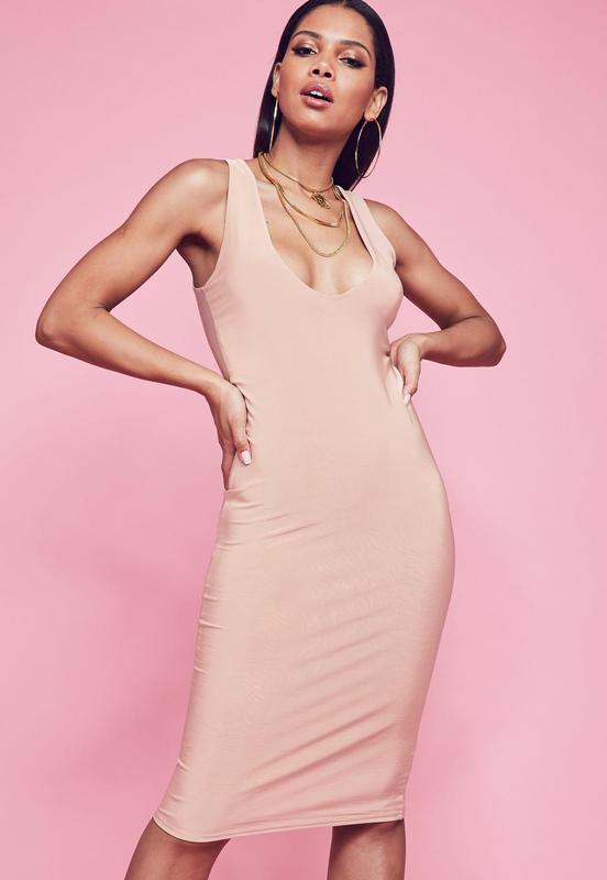 f6ba1b7c293 Роскошное нюдовое платье миди missguided 🖤 Missguided