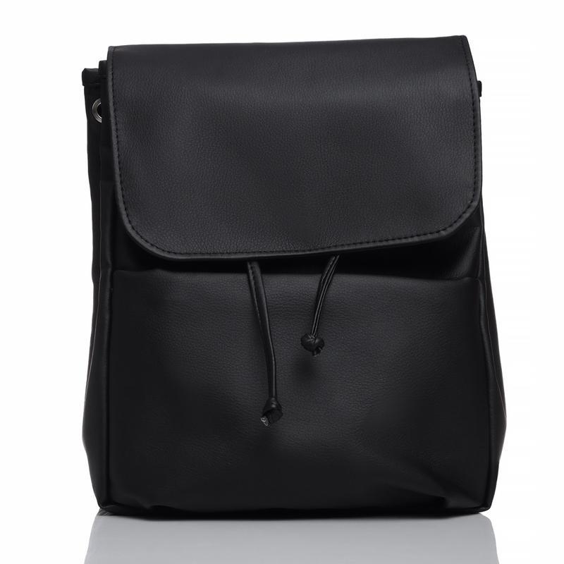 25d640e6c90d Дизайнерский женский рюкзак чёрный с экокожи для ноутбука, учебы, прогулок1  ...