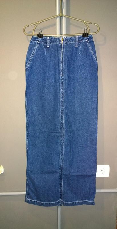 69b991d309d Длинная джинсовая юбка из денима в пол1 фото ...