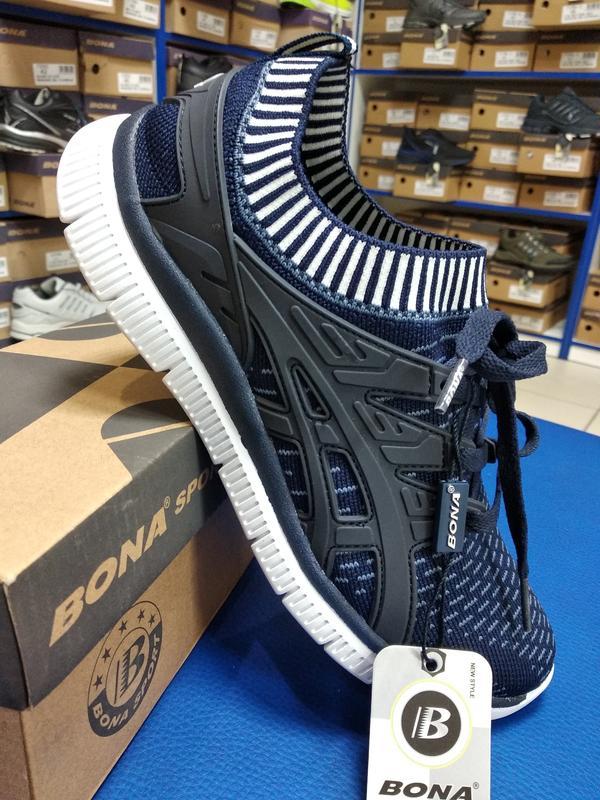 Оригинальные легкие мужские кроссовки bona-711wв Bona 7cbed61f33635