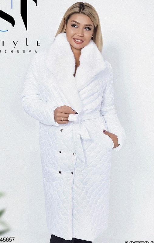 купить стеганое демисезонное пальто 7