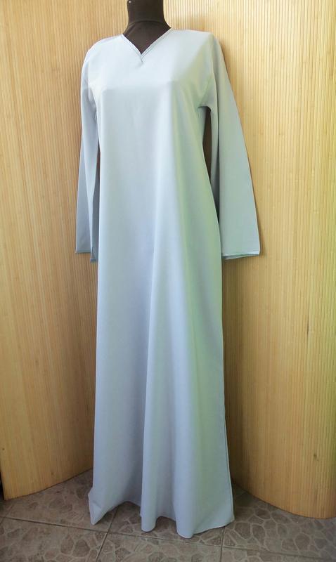 2205d79fcd1 Серо голубое базовое длинное платье макси   абая l xl1 фото ...