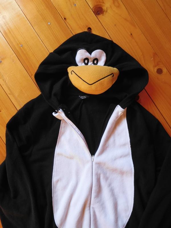 Костюм пингвин кигуруми комбинезон халат теплый зимний пижама кігурумі  пінгвін1 ... 480e1bd776725