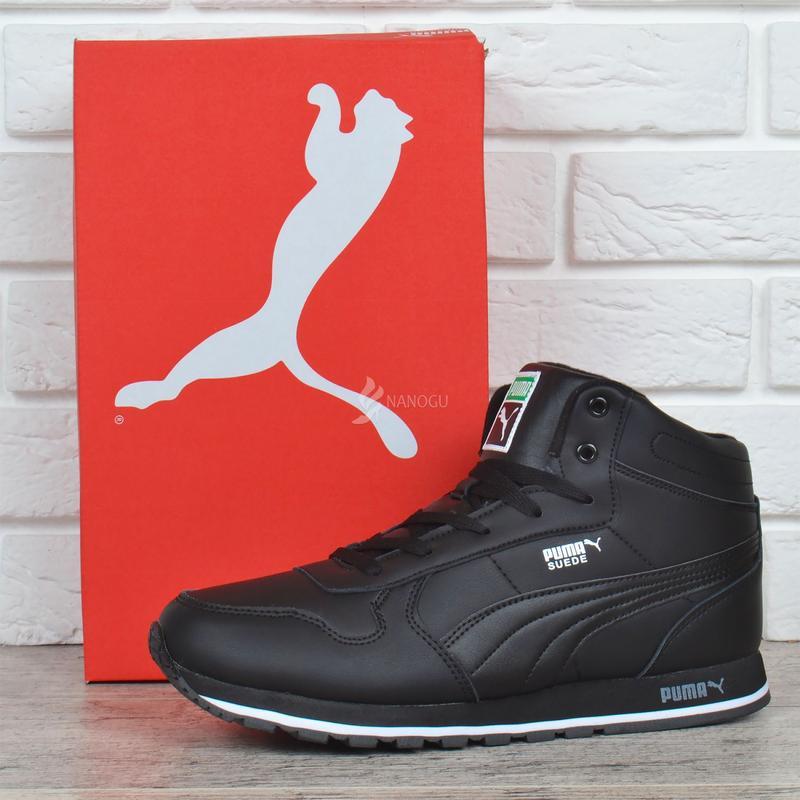 Кроссовки кожаные зимние puma suede мужские ботинки пума черные на меху1 ... 89c0e207d783e