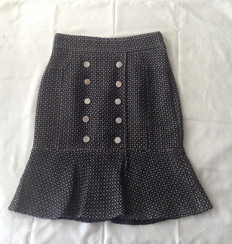 bf14bf5a4187 Твидовая женственная юбка с высокой талией. 12-m-l( пот-38). шерсть ...