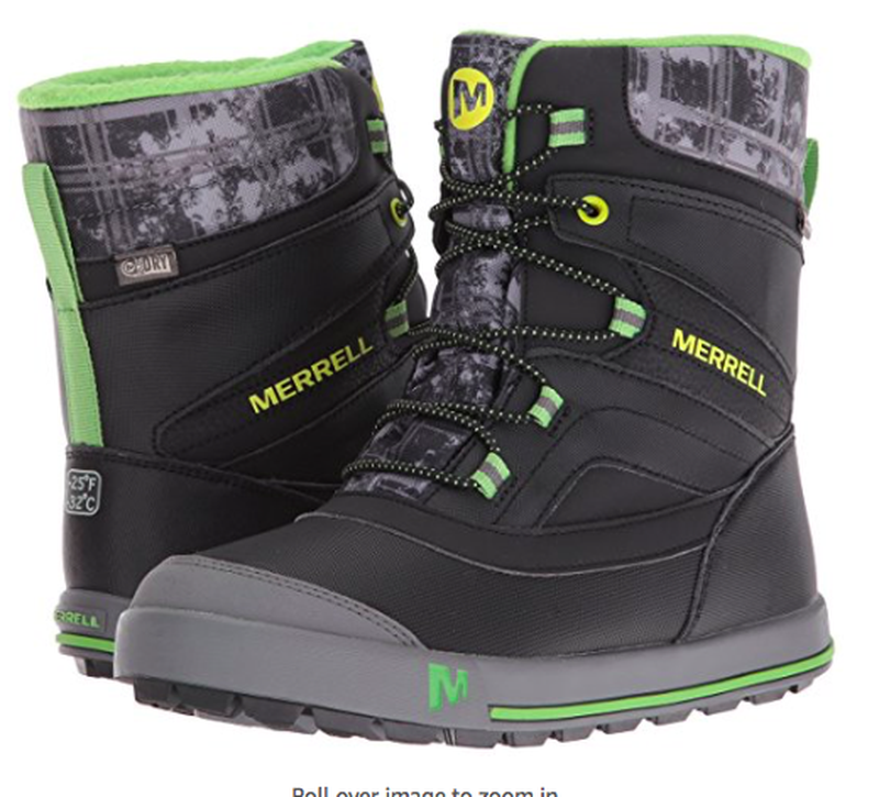 Теплющие зимние сапоги merrell kids snow bank waterproof d767c8127f8c5