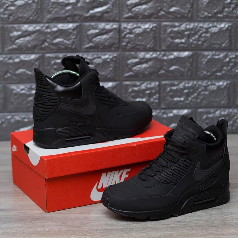 87a4cbec ... 41 42 43 44 45 шикарные мужские кроссовки nike air max 90 sneakerboot  winter triple black4 ...