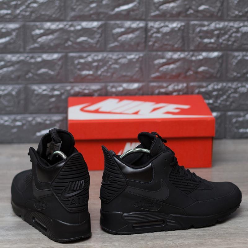 fc311b75 ... 41 42 43 44 45 шикарные мужские кроссовки nike air max 90 sneakerboot  winter triple black3 ...