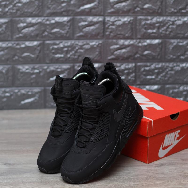 efc94c8d ... 41 42 43 44 45 шикарные мужские кроссовки nike air max 90 sneakerboot  winter triple black2 ...